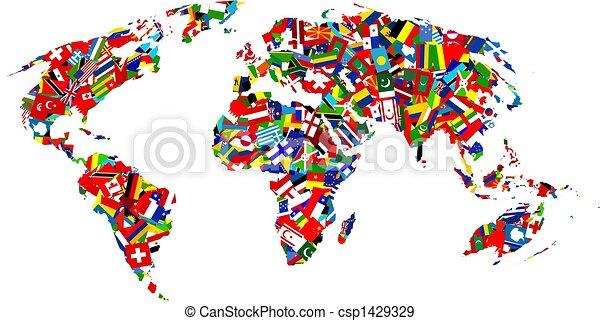 El mapa de la bandera - csp1429329