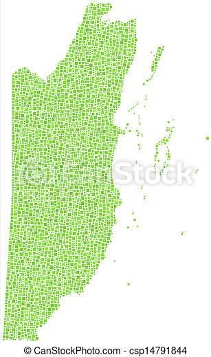 Mapa de Belize - América Central - csp14791844