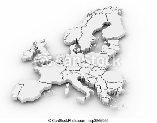 Mapa de Europa - csp3865959
