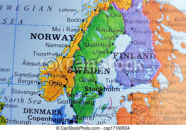 Mapa de sweden - csp17160634
