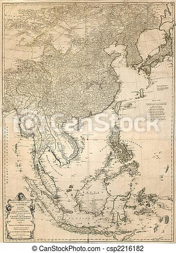Mapa de vintage - csp2216182