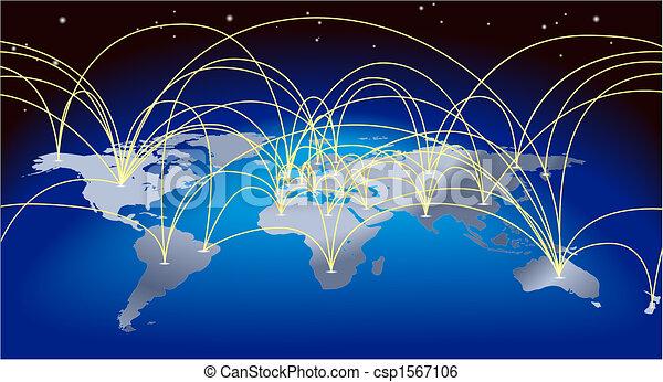 Trasfondo de mapas del mundo - csp1567106