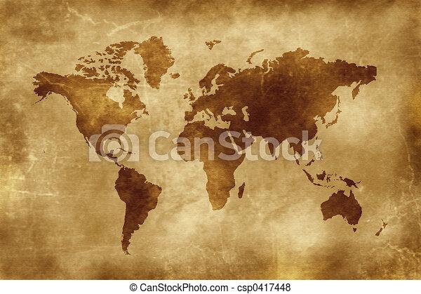 El mapa del mundo - csp0417448
