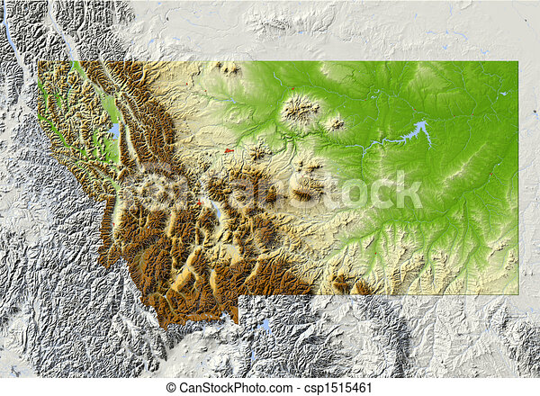 Montana, mapa de socorro - csp1515461