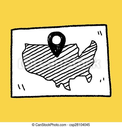Ubicación de mapas - csp28104045