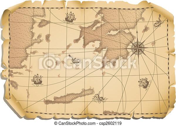 Viejo mapa - csp2602119