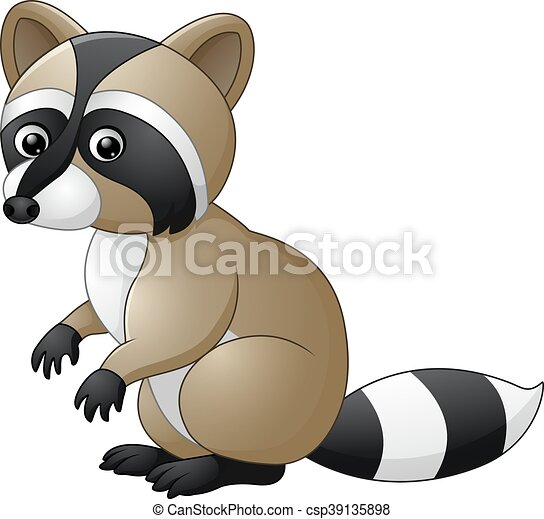 Lindo dibujo de mapache - csp39135898