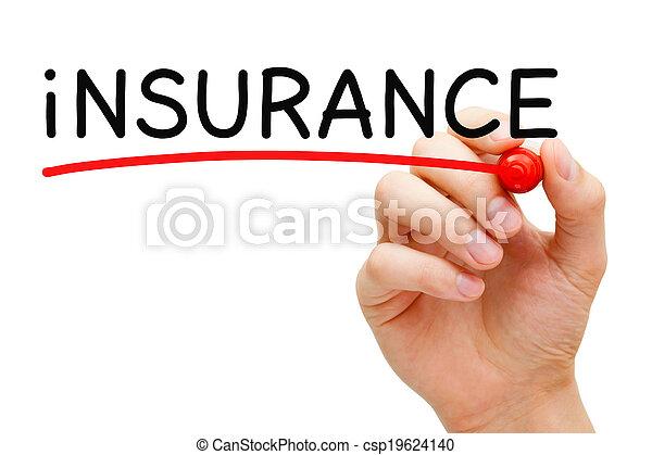 Marca roja de seguro - csp19624140