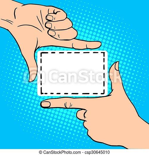 Un gesto enmarcado - csp30645010