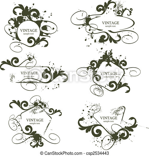 Marcos de vintage - csp2534443