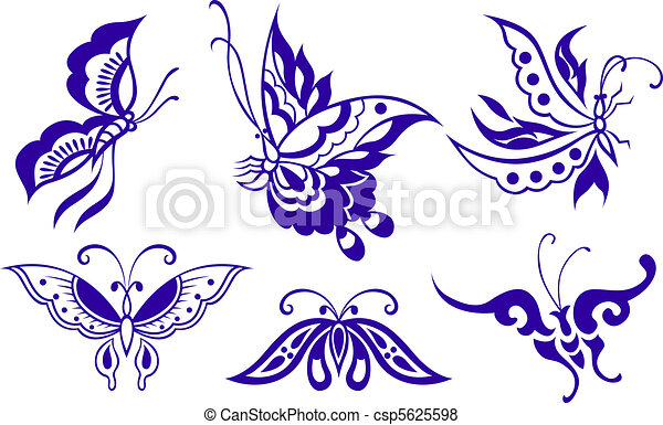 Ilustración de mariposas - csp5625598