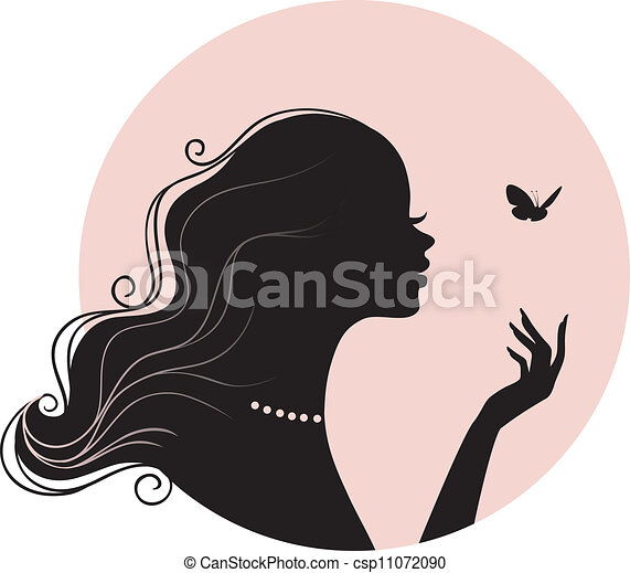 Mujer hermosa con mariposa - csp11072090