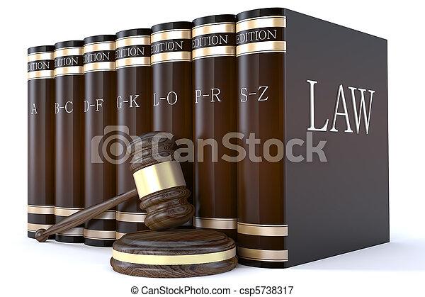 Los jueces daban y los libros de leyes - csp5738317