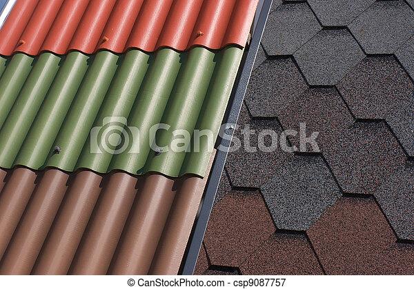 Materiales de construcción, antecedentes de tejado - csp9087757