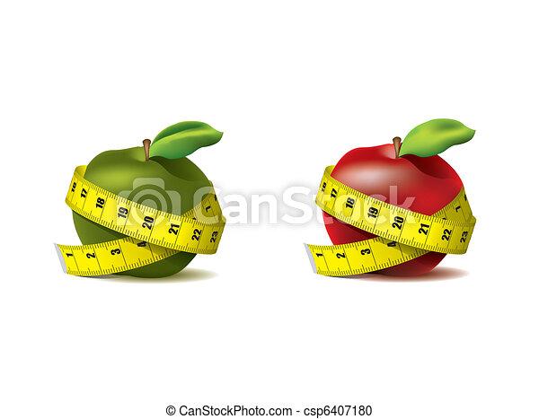 Manzanas frescas con cinta adhesiva - csp6407180