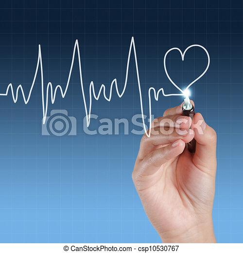 Medicina, dibujo de manos - csp10530767