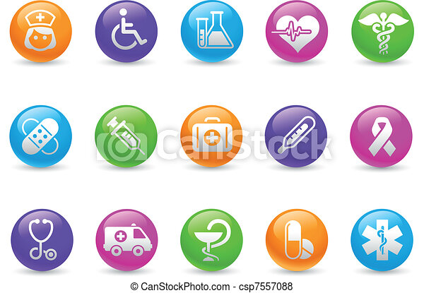 Medicina y cuidado de la muerte / arco iris - csp7557088