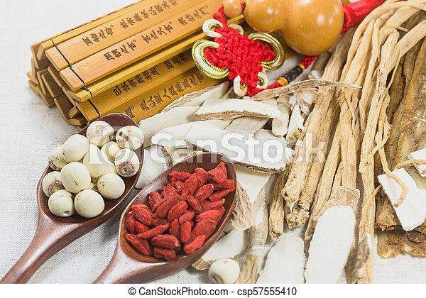 Combinación de hierbas medicinales chinas - csp57555410