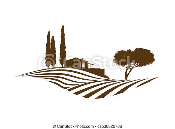 Mediterráneo paisaje rural - csp38320786