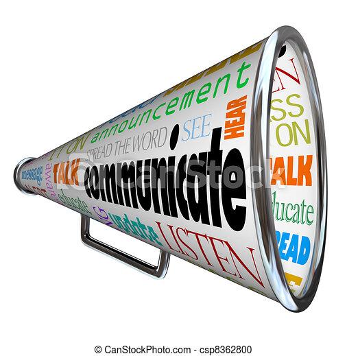 Comuníquese con el megáfono de megáfono - csp8362800