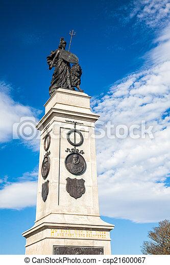 Memorial en Plymouth Hoe, Devon - csp21600067