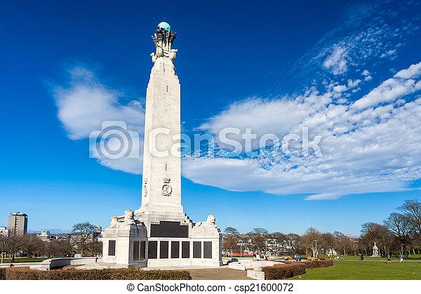 Memorial en Plymouth Hoe, Devon - csp21600072
