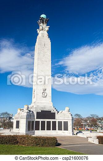 Memorial en Plymouth Hoe, Devon - csp21600076