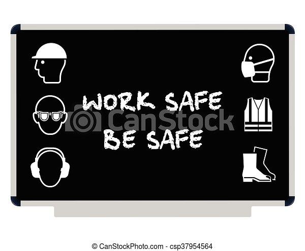 Mensaje de salud y seguridad - csp37954564