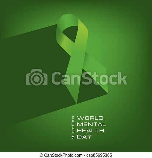mental, mundo, salud, día, cartel - csp85695365