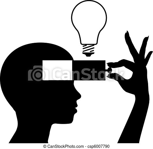 Abrir una mente para aprender nuevas ideas - csp6007790