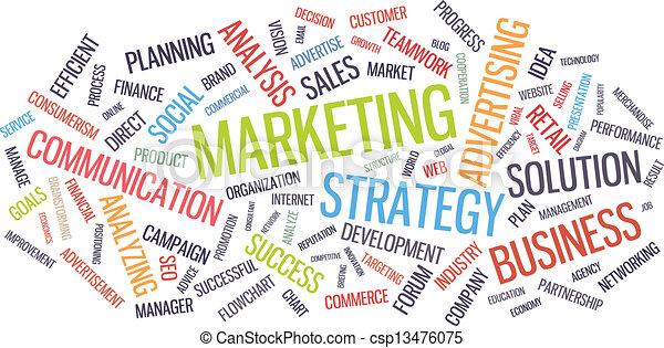 Mercadotecnia de estrategia de negocios - csp13476075