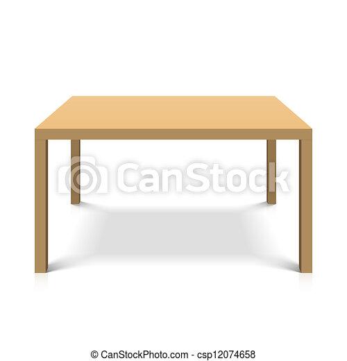 Mesa de madera - csp12074658