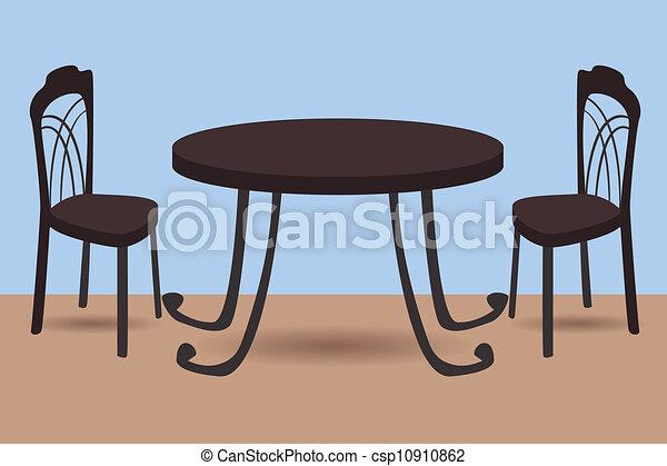 Mesa y sillas - csp10910862