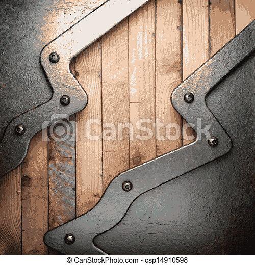 Metal y madera - csp14910598