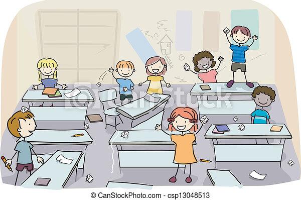 Mete a los chicos en clases sucias - csp13048513