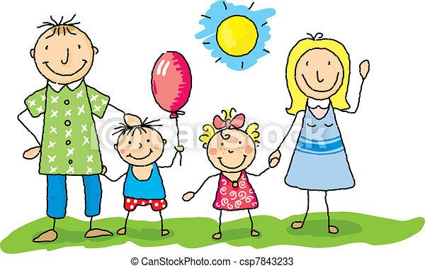 Mi familia está feliz - csp7843233