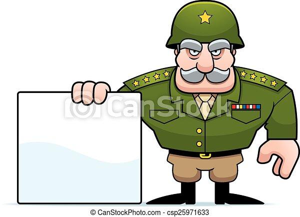 Señal general militar de dibujos animados - csp25971633