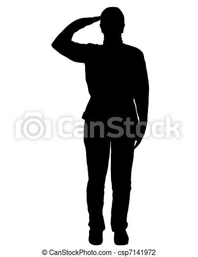 Saludo militar - csp7141972