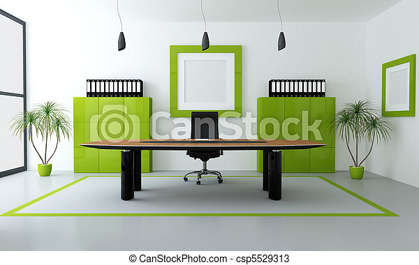 Oficina moderna verde - csp5529313