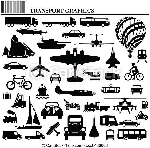 Modes de transporte - csp6436088