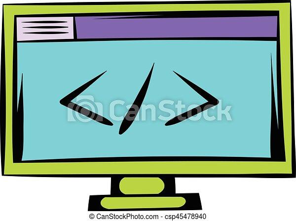Más grande que o menos que en el monitor - csp45478940