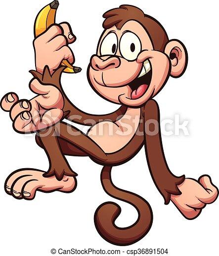Mono de dibujos animados - csp36891504