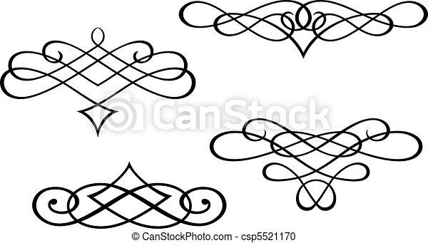 Monogramas y elementos de remolino - csp5521170