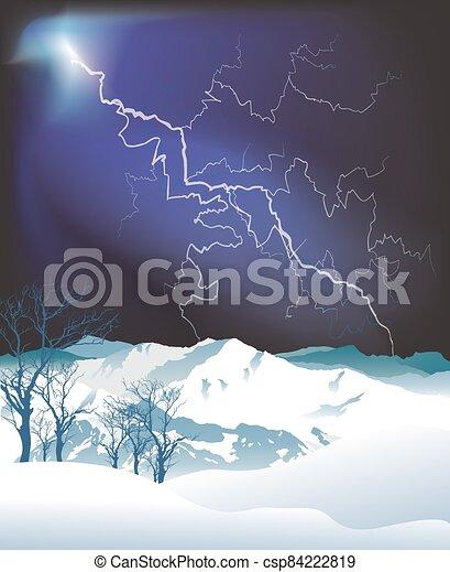 montaña, alpino, escena - csp84222819