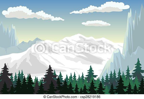 Escena de montaña - csp28219186