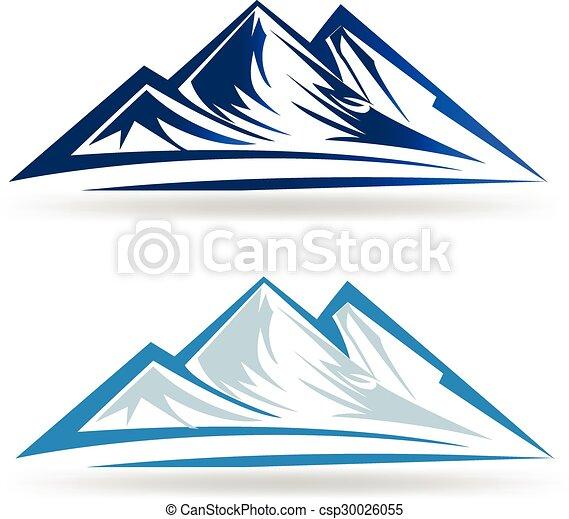 Logo de las montañas azules - csp30026055