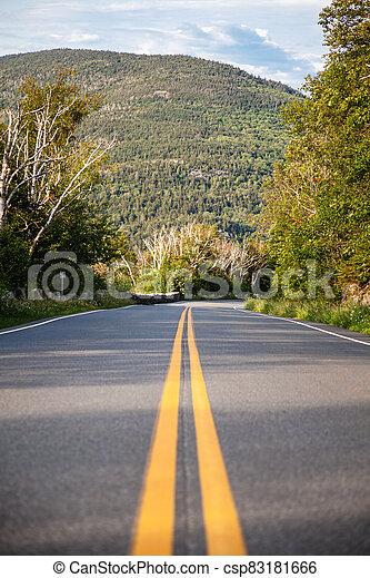 montañas, camino, estados unidos de américa - csp83181666