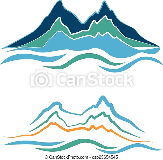 Logo de las montañas - csp23654545