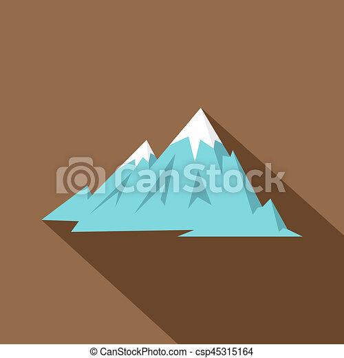 El icono de las montañas Rocky, estilo plano - csp45315164