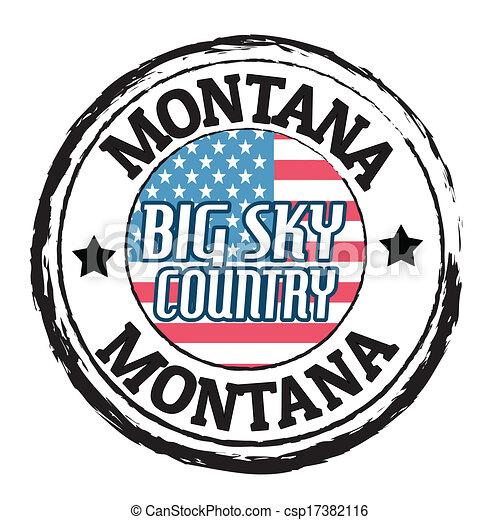 Montana, gran sello del país del cielo - csp17382116